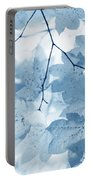 Softness Of Blue Leaves Portable Battery Charger by Jennie Marie Schell