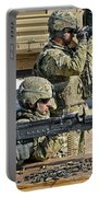 Soldier Firing A M240b Machine Gun Portable Battery Charger