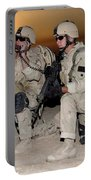 Soldiers Call In Air Support Portable Battery Charger by Stocktrek Images