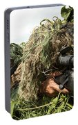 Soldiers Dressed In Ghillie Suits Portable Battery Charger