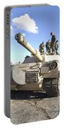Soldiers Get Their Battletank Ready Portable Battery Charger