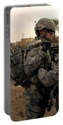 Soldiers Help One Another Portable Battery Charger by Stocktrek Images