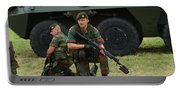 Soldiers Of An Infantry Unit Portable Battery Charger