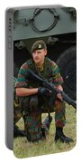 Soldiers Of An Infantry Unit Portable Battery Charger by Luc De Jaeger