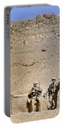 Soldiers Wait For Afghan National Portable Battery Charger