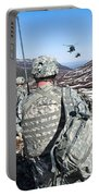 Soldiers Wait For Uh-60 Black Hawk Portable Battery Charger