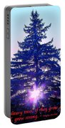 Solitary Trees Poster Portable Battery Charger