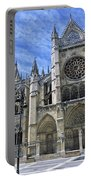 South Facade Of Leon White Gothic Portable Battery Charger