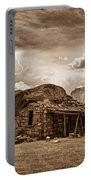 Southwest Indian Rock House And Lightning Striking Portable Battery Charger