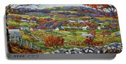Souvenir 05 Chateau Richer Old Quebec By Prankearts Portable Battery Charger