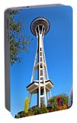 Space Needle In Seattle Washington  Portable Battery Charger