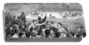 Spain: Bullfight, 1875 Portable Battery Charger