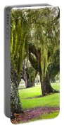 Spanish Moss At Jekyll Island Portable Battery Charger