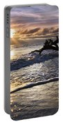 Sparkly Water At Driftwood Beach Portable Battery Charger