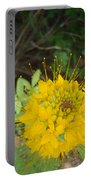 Yellow Bee Plant Sparks Portable Battery Charger