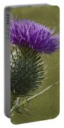Spear Thistle With Texture Portable Battery Charger