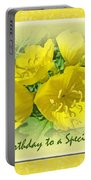 Special Friend Birthday Greeting Card - Yellow Primrose Portable Battery Charger
