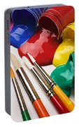 Spilt Paint And Brushes  Portable Battery Charger