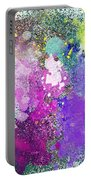 Splattered Colors Abstract Portable Battery Charger