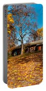 Splendor Of Autumn. Wooden House Portable Battery Charger