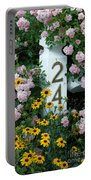 Spring Flowers And Fencepost Portable Battery Charger