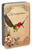Springtime - Hummingbird Portable Battery Charger