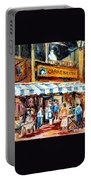 St. Denis And Prince Arthur Montreal Cafe Scene Portable Battery Charger