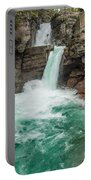 St. Mary Falls In Spring Portable Battery Charger