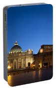 St. Peter's Basilica At Night Portable Battery Charger