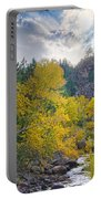 St Vrain Canyon Autumn Colorado View Portable Battery Charger
