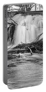 St Vrain River Waterfall Slow Flow Bw Portable Battery Charger