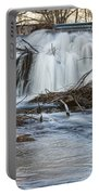 St Vrain River Waterfall Slow Flow Portable Battery Charger