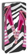Stack 'em High Pink Platforms On Zebra Portable Battery Charger