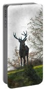 Stag On Hillside Portable Battery Charger