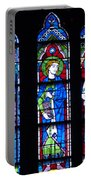Stain Glass At Notre Dame Cathedral Parus Portable Battery Charger