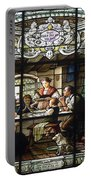 Stained Glass Family Giving Thanks Portable Battery Charger