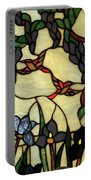 Stained Glass Humming Bird Vertical Window Portable Battery Charger by Thomas Woolworth