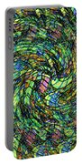 Stained Glass In Abstract Portable Battery Charger