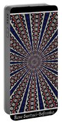Stained Glass Kaleidoscope 49 Portable Battery Charger