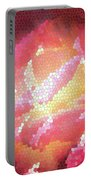 Stained Glass Rose Portable Battery Charger