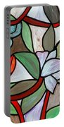 Stained Glass Wild  Flowers Portable Battery Charger