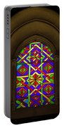 Stained Glass Window In Mezquita Portable Battery Charger
