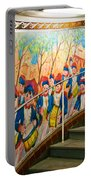 Stairway Mural At Montmartre Metro Exit Portable Battery Charger