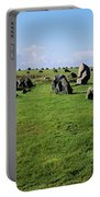 Standing Stones On A Landscape Portable Battery Charger
