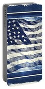 Star Spangled Banner Blue Portable Battery Charger