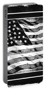 Star Spangled Banner Bw Portable Battery Charger