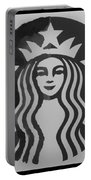 Starbuck The Mermaid In Black And White Portable Battery Charger