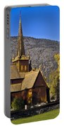 Stave Church In Lom Portable Battery Charger