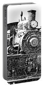 steam Engine pencil sketch Portable Battery Charger