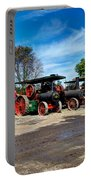 Steam Engines Lined Up Portable Battery Charger
